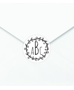 monogram sticker
