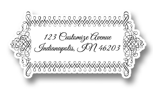 Elegant Return Address Label  Vvixci
