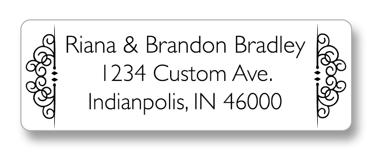 elegant return address label