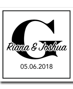 Wedding Monogram Label